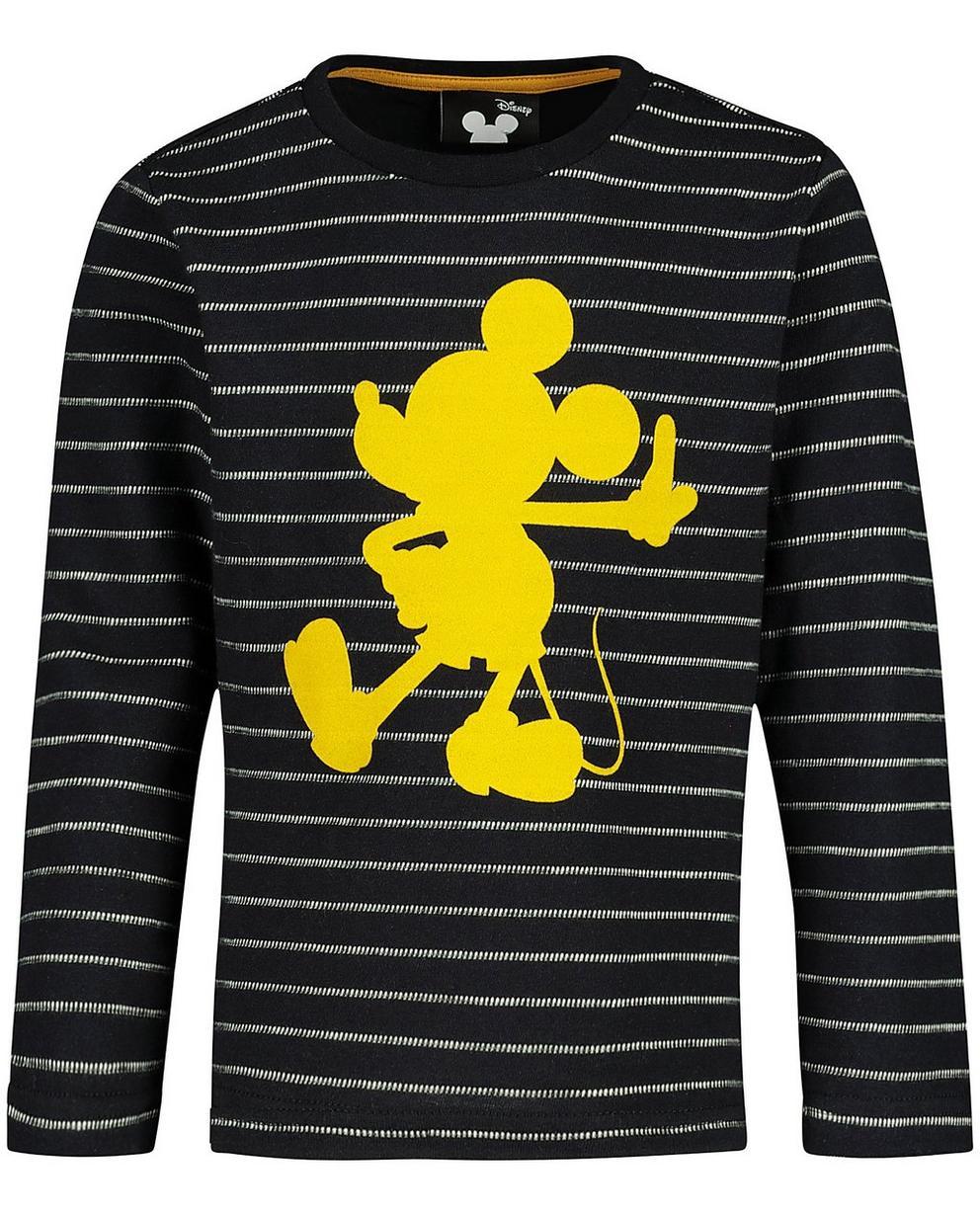 T-Shirts - Schwarz - Gestreiftes Longsleeve